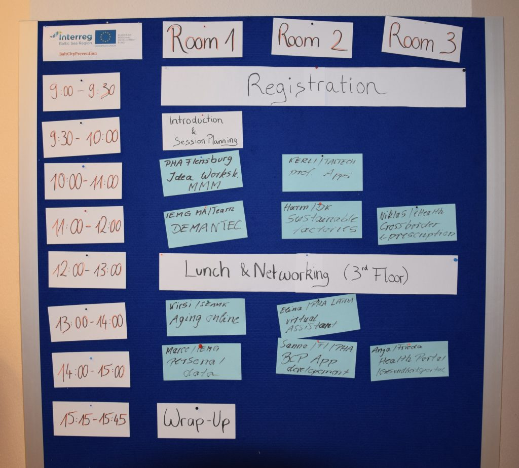 Timetable of the BarCamp