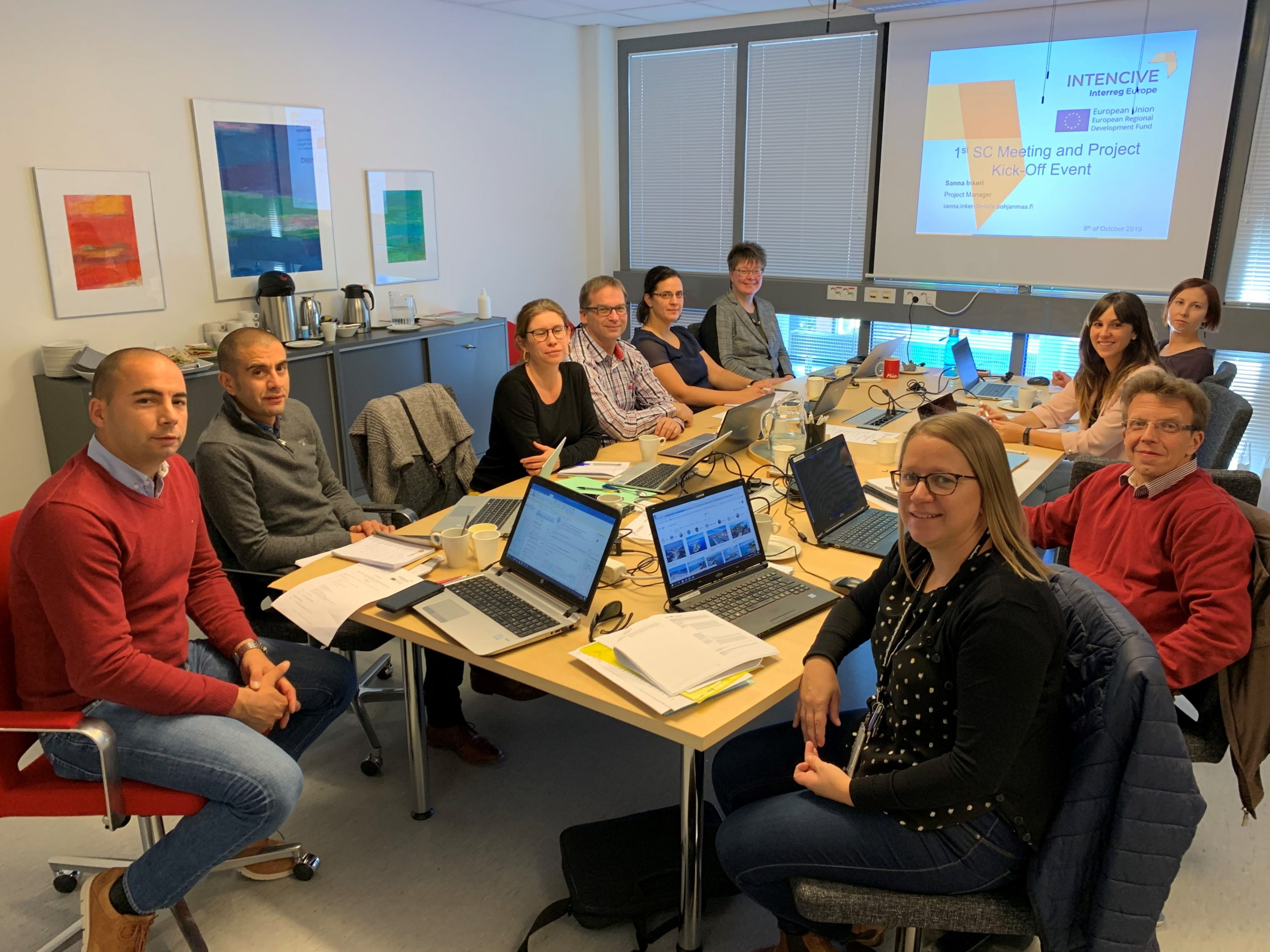 NTENCIVE project partners at the kick-off meeting 9.-10.10.2019 in Seinäjoki.